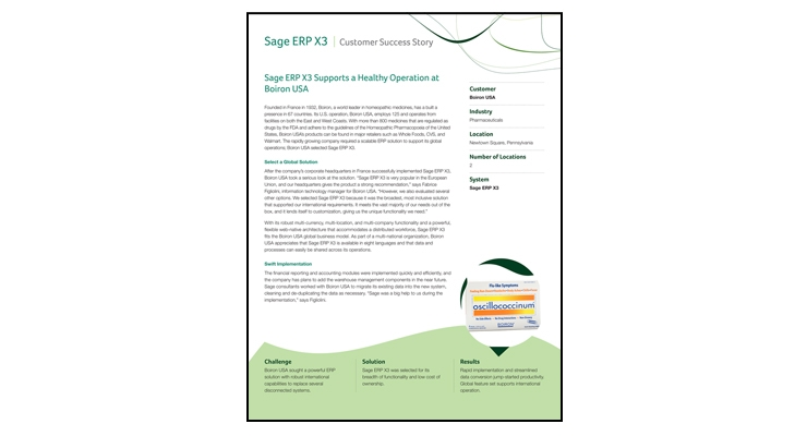 Sage ERP X3 | Customer Success Story