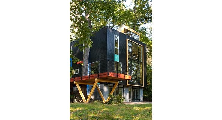 Valspar Coats Residential Home in Takoma Park Using Artist Richard Diebenkorn as Inspiration