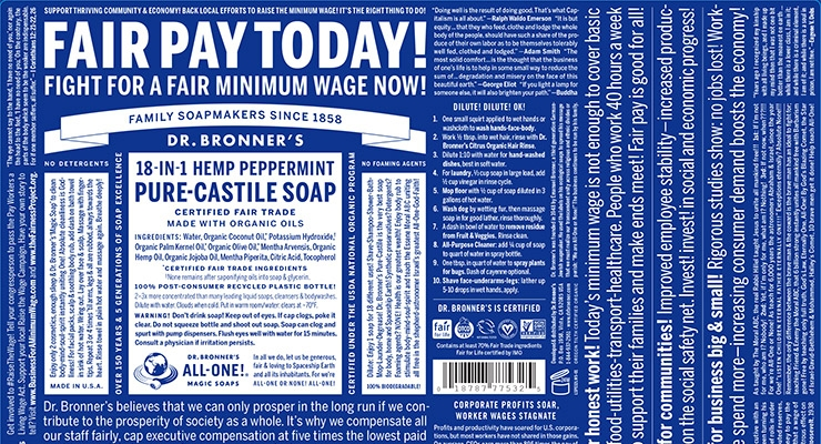 Dr. Bronner's takes a stand for fair wages