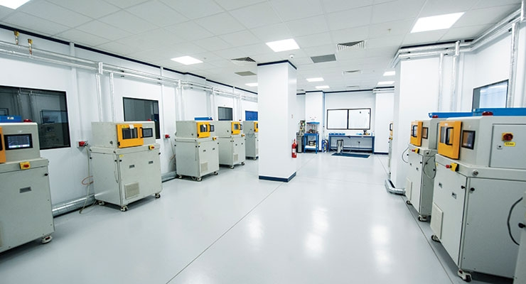DCM (Direct Compression Molding) facility. Image courtesy of Orthoplastics Ltd.