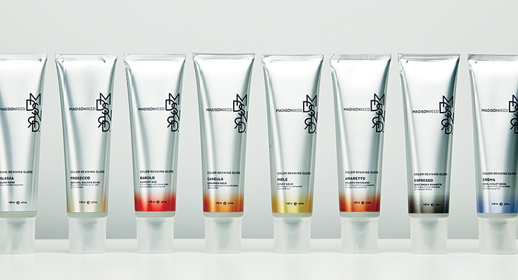 Madison Reed Color Reviving Glosses are packaged  in five-layer, aluminum-laminated tubes from East Hill.