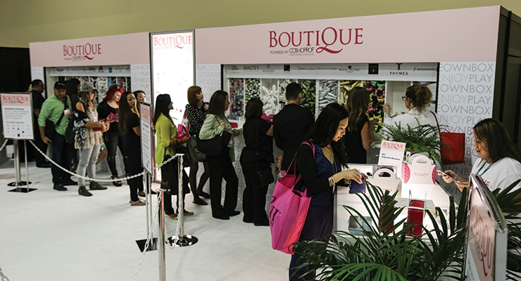 The popular Boutique sample program returns this year (shown: 2015).
