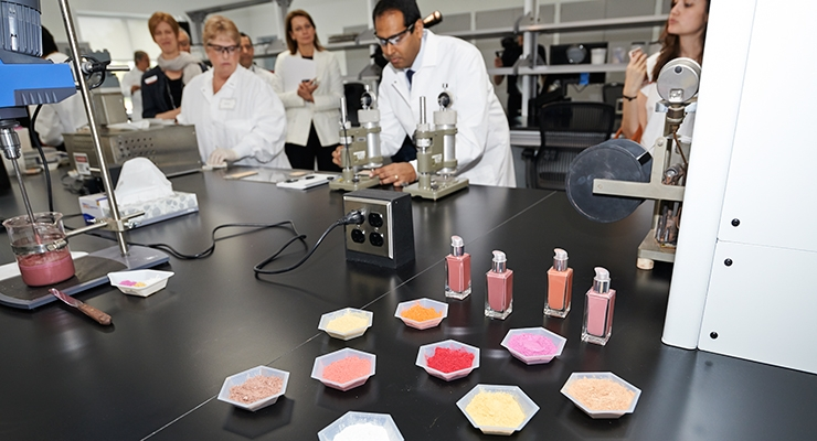 The new Americas Innovation Center in Windsor, NJ focuses on color cosmetics and all of the materials that go into them.