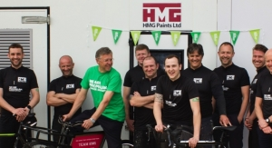 HMG Paints Gets in Gear for Macmillan Cancer Support