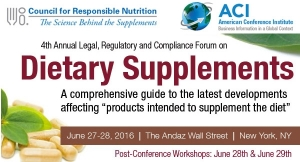 The CRN/ACI Legal, Regulatory and Compliance Forum on Dietary Supplements