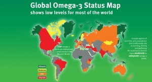 Map Highlights Issue of Global Omega-3 Deficiency