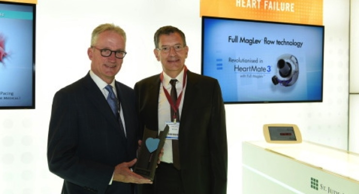 St. Jude Wins Innovation Award for HeartMate 3 Left Ventricular Assist System