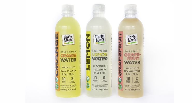 Uncle Matt's Organic's Adds New Fruit-Infused, Cold Pressed Probiotic Waters