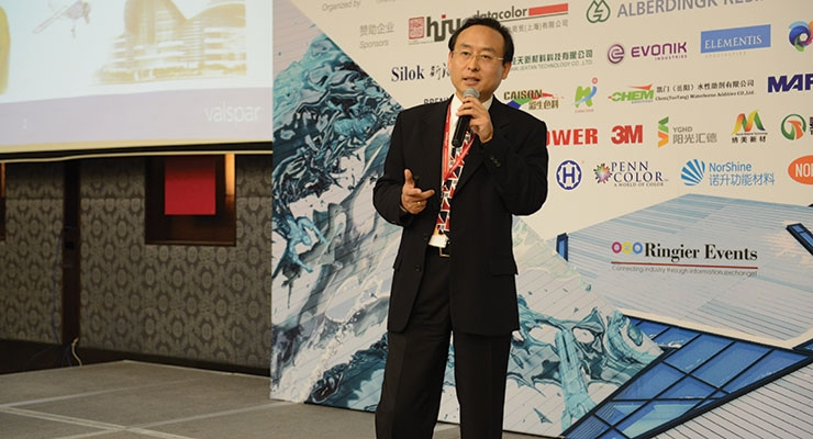 Dr. Robert Duan, global techical director for Valspar was among the presenters at this year's China Coatings Summit.