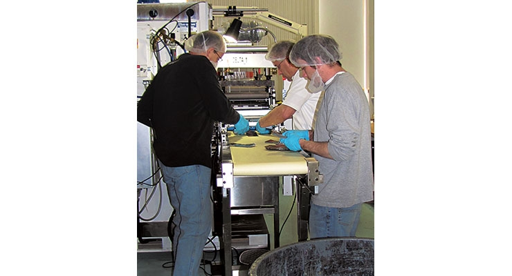 Packing a direct food contact product, one of the many niche markets Dion Label Printing serves.