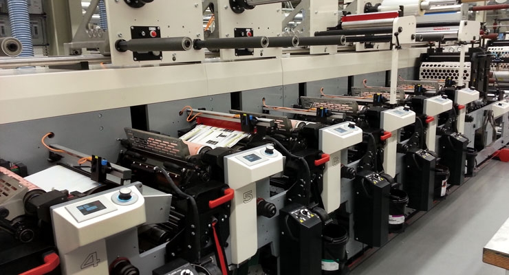 "Dion Label Printing's 16"" 8-color MPS flexo press"