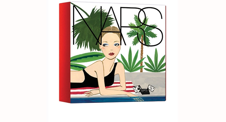 Nars Cosmetics created colorful cartons for its limited edition summer 2016 cosmetic collection.