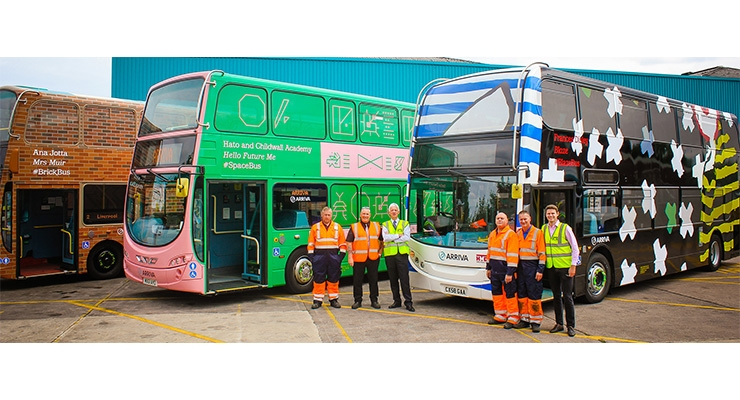HMG Paints Coats Iconic Arriva Biennial Buses