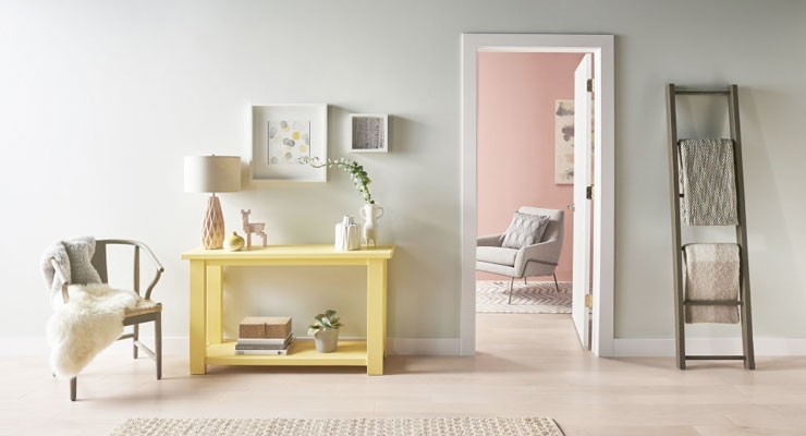 Behr Paint Comfortable Dusted Yellow