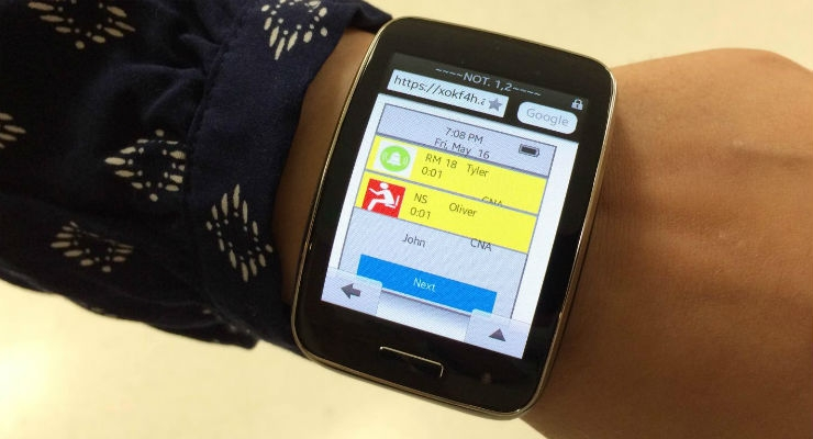 Smartwatch Interface Could Improve Communication, Help Prevent Falls at Nursing Homes