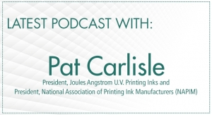 Pat Carlisle, President of Joules Angstrom U.V. Printing Inks and NAPIM