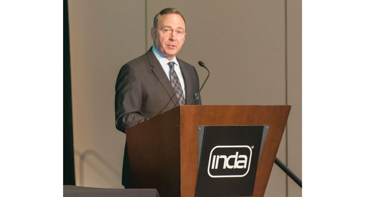 INDA president Dave Rousse, addresses WOW attendees.