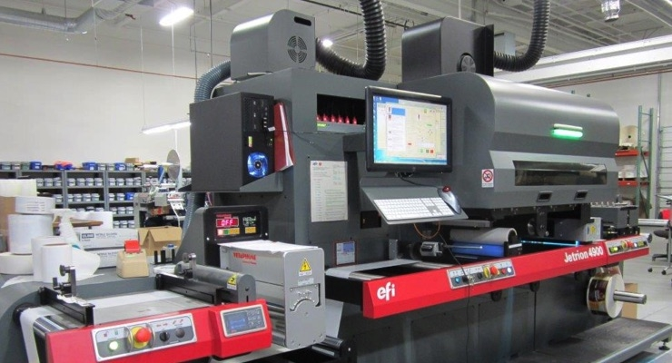ImageTek Labels adds EFI Jetrion 4900M-330 digital press