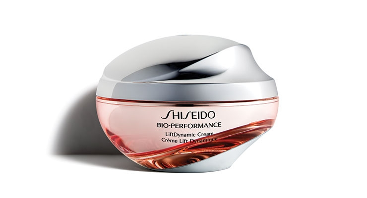 "Shiseido's Bio-Performance Lift Dynamic Cream, in an eye-catching jar, ""uses the power of advanced technology to restore the appearance of youthful skin."""