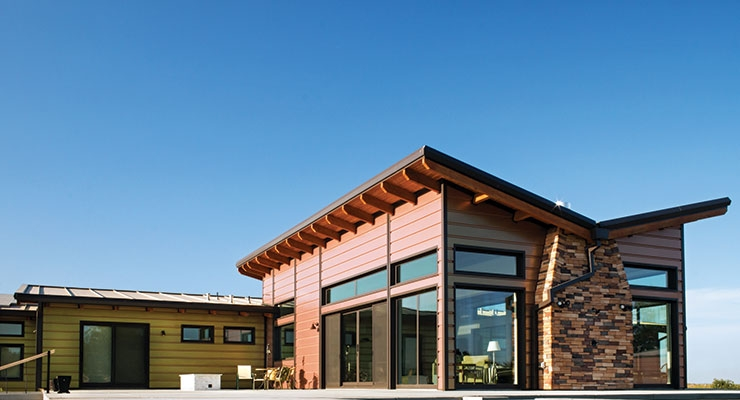 A Kameleon Coating Was Used On A California Home To Provide A Head Turning  Effect