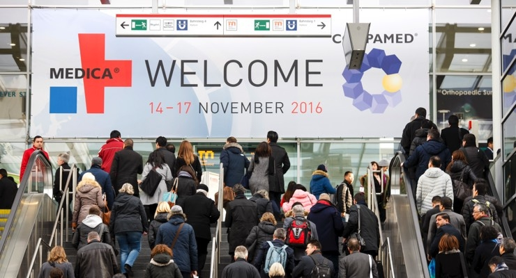 Medica 2016 opened its doors once again to large crowds of medical technology industry professionals, healthcare providers, doctors, and surgeons. Image courtesy of Messe Dusseldorf.