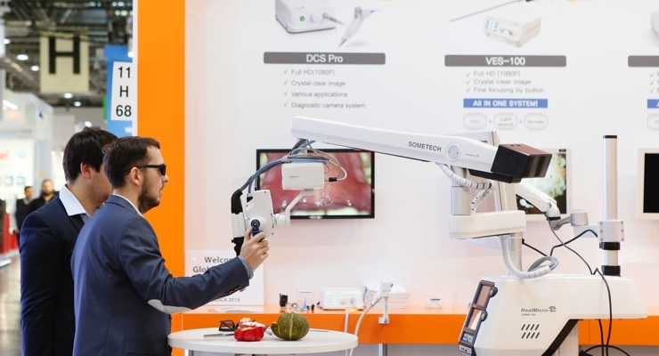 As the push for more minimally invasive procedures continues, the technology advances in both size of the camera utilized and the exceptional clarity of the display improves. Enhanced visual capabilities are certainly on display in a significant way at Medica in 2016.