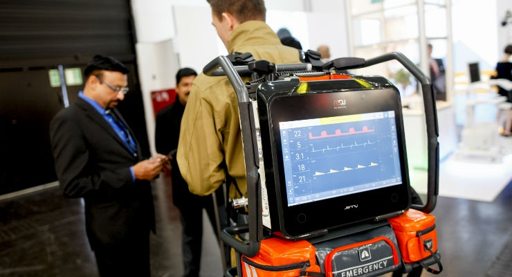 Ghostbusters or emergency responder? EMTs and other first responders need advanced medical technologies that are portable and can be used for remote locations.