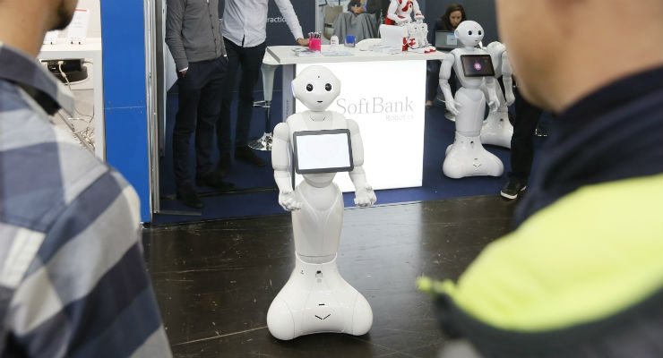 Pepper from SoftBank Robotics hails from Paris and can be used for an array of applications such as serving as a greeter in a doctor's office. The robot is one of several from the company and is one of the must sees at Medica as a simple photo doesn't do the technology justice. Pepper is currently in Row A in Hall 15.