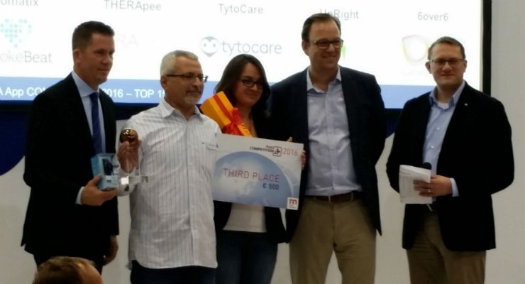 Day 3 saw the very popular App Competition take place. Three winners were named. For more on the App Competition, check out the link below (under the video). And now, in third place...TytoCare!