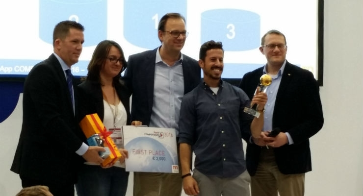 The first place winner of the App Competition, taking home 2,000 euro as well as the opportunity to work in