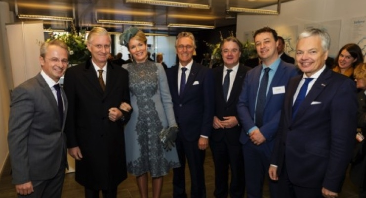 King Philippe and Queen Mathilde of Belgium visit Holst Centre