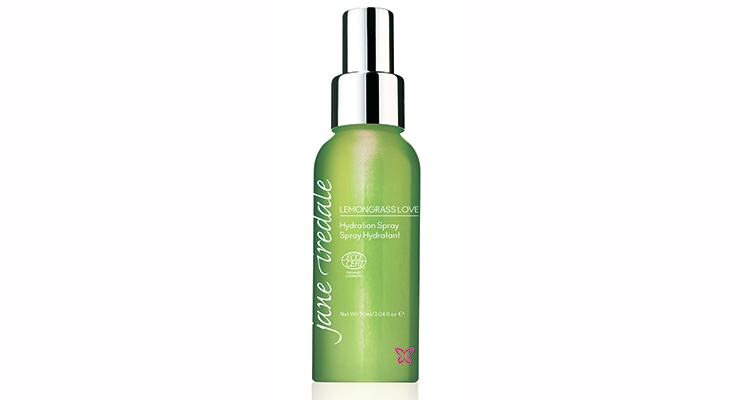 Jane Iredale's Lemongrass Love,  a limited edition hydrating mist.