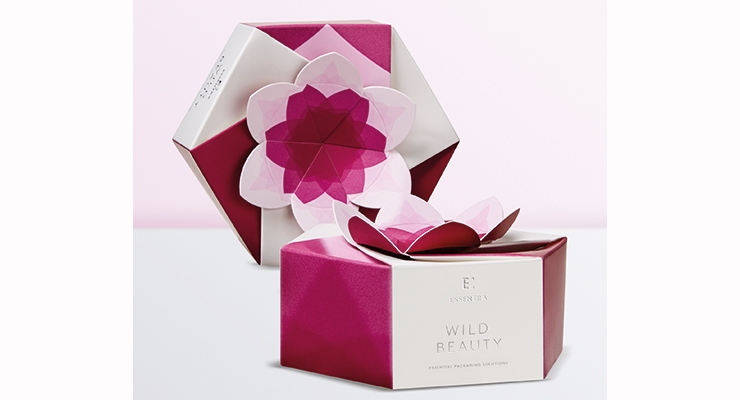 Essentra's Lotus Pack carton showcases some of the most on-trend finishing techniques.