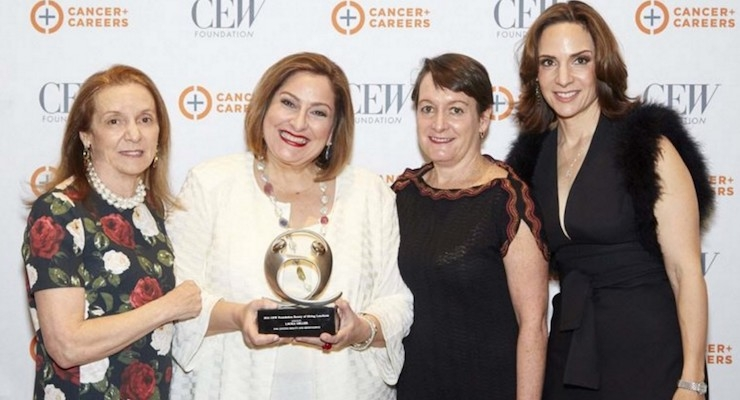 2. Strike a Pose: (L-R) Carlotta Jacobson, president, CEW; Laura Geller; Kate Sweeney, executive director of CEW Foundation; and Elana Drell-Szyfer, CEO, Laura Geller Beauty, at CEW's annual Beauty of Giving Luncheon 2016. Photo by JF Productions.