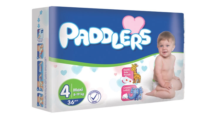 Paddlers is a new diaper brand, made by Turkish newcomer Enka Hijyen,