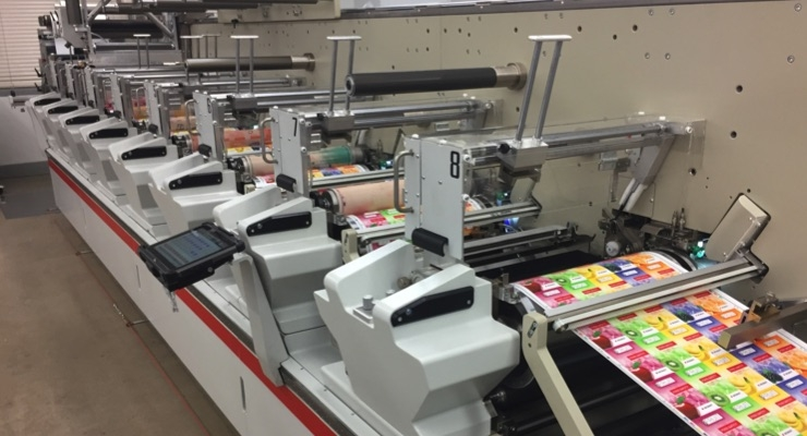 The  press has easy drop-in Bobst Ready technology allowing fast changeovers and interchangeability of flexo, screen and hot foil decoration.