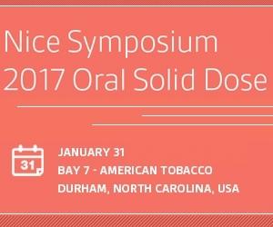 Nice Symposium 2017 Oral Solid Dose