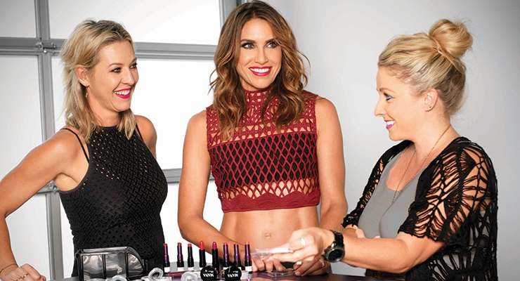 Wende Zomnir (center) with her team at UD studios.