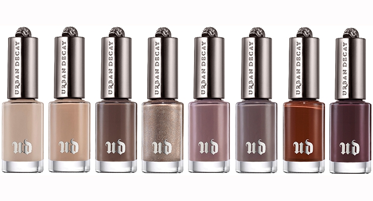 'Beauty with an edge' came across in the packaging for the Urban Decay natural nail polish shades.