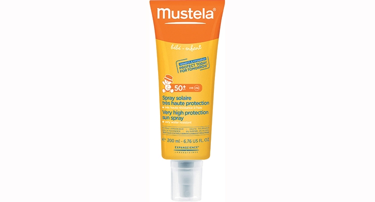 Expanscience Laboratories selected CTL's Dositube for its Mustela SPF 50+ Very High Protection Sun Spray for Babies in part because of its convenient 360-degree spray dispensing capability.