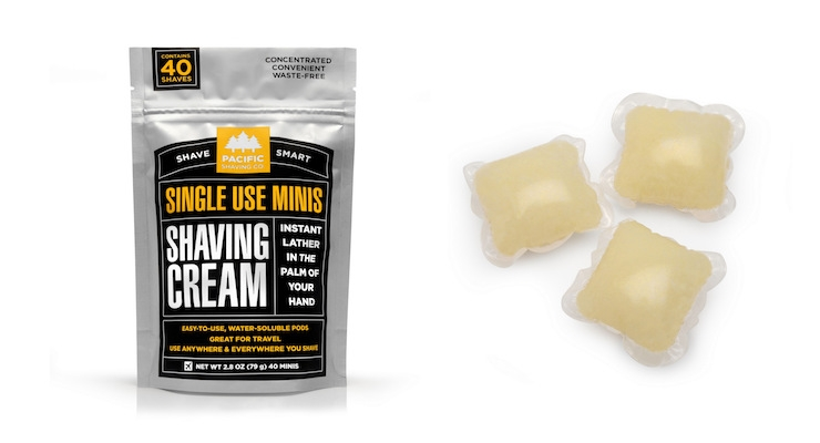 Single-Use Shaving Cream Minis Designed To Disrupt Men