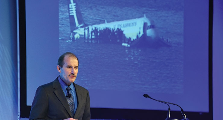 ACI keynote speaker Jeff Skiles, co-pilot, US Airways Flight 1549.
