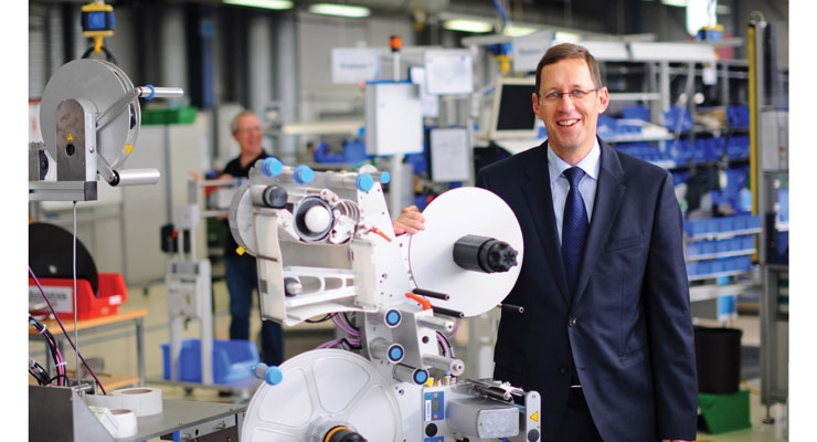 Martin Kühl, general manager of Herma's Labeling Machinery Division.