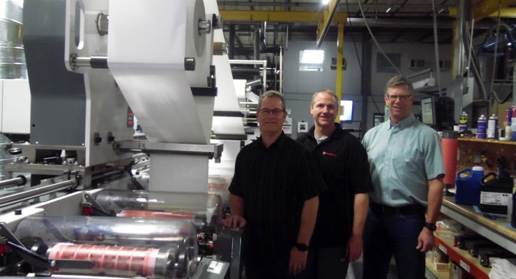 The Phenix Label team, from left, Todd Fatino, VP of innovation; Chris Smith, senior press operator; Todd Austin, production engineer