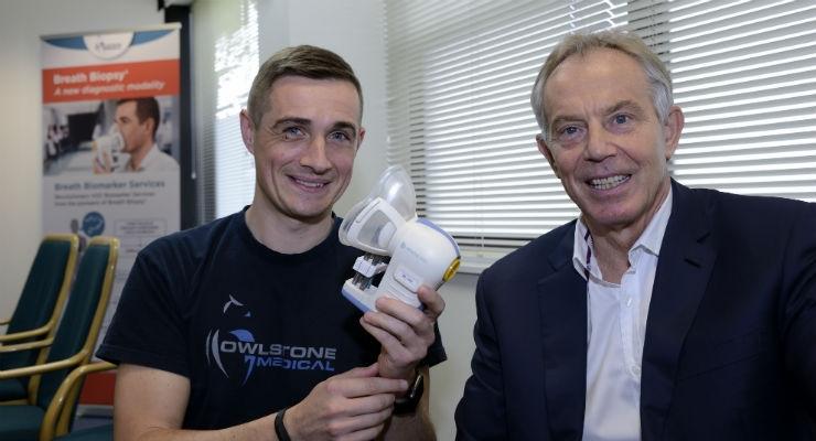 Tony Blair Opens New High Volume Breath Biopsy Lab