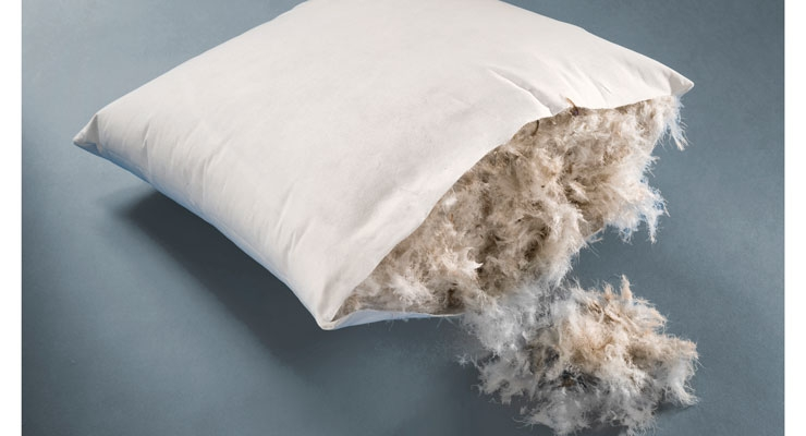 Freudenberg Performance Materials' new Evolon super-microfilament textiles provide protection for  pillows, duvets, sleeping bags and other quilted  products filled with feathers and down.