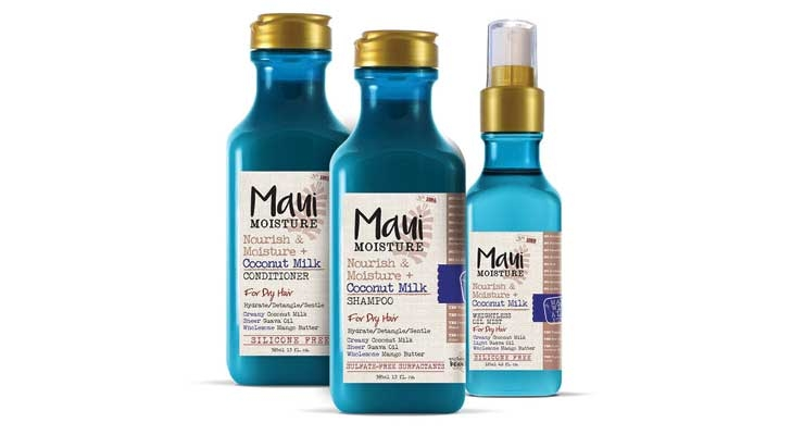 The latest launch from J&J for textured hair is Maui Moisture.