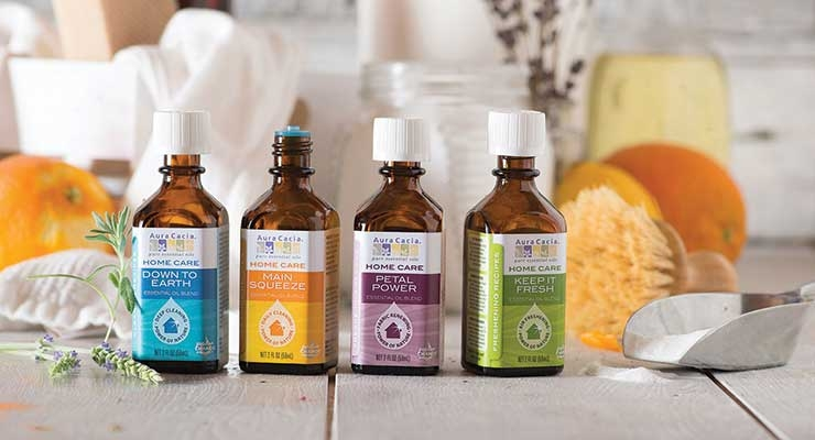 Aura Cacia Launches  Home Care Essential Oils