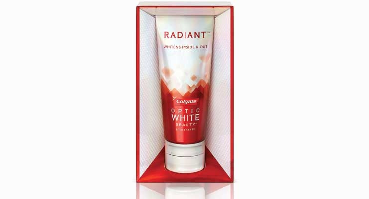 Colgate's Radiant by Optic White Whitens Teeth Inside and Out