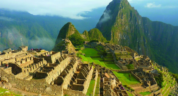 The ancient Peruvian city of Macchu Picchu.